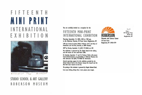 15th Mini Print International Exhibit a